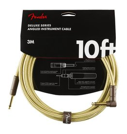 Fender NEW Fender Deluxe Cable - 10' Straight/Angle - Tweed
