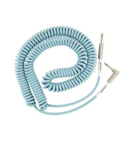 Fender NEW Fender Original Series Coil Cable - 30' - Straight/Angle - Daphne Blue
