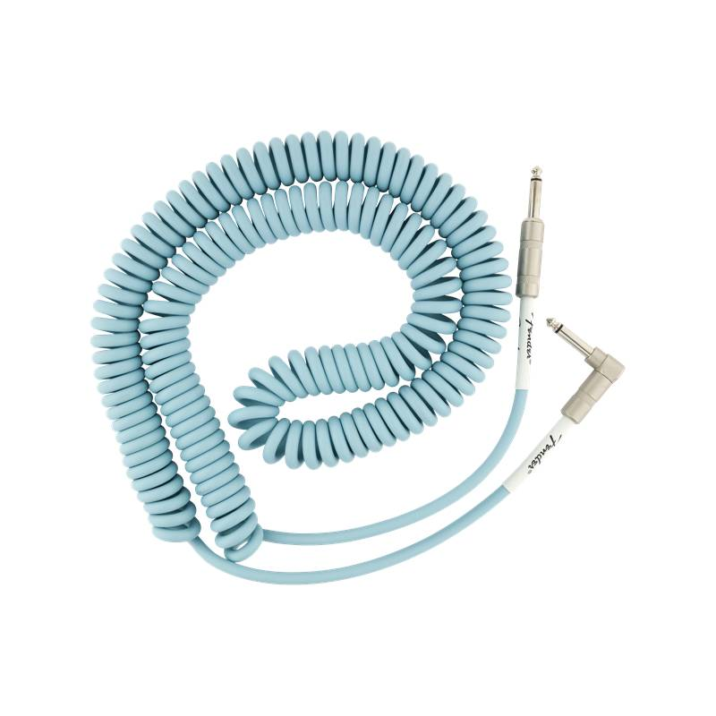 Fender NEW Fender Original Series Coil Cable - 30' - Angle/Straight - Daphne Blue