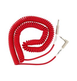 Fender NEW Fender  Original Series Coil Cable - 30' - Angle/Straight - Fiesta Red
