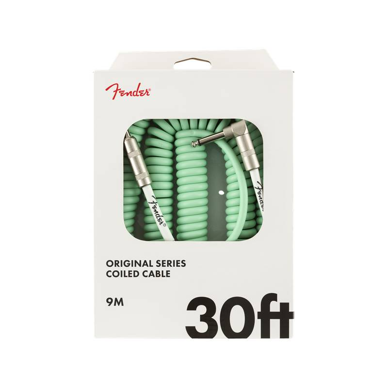 Fender NEW Fender  Original Series Coil Cable - 30' - Angle/Straight - Surf Green