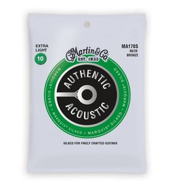 Martin NEW Martin Authentic Acoustic Marquis Silked - MA170S - 80/20 Bronze - Extra Light .010-.047