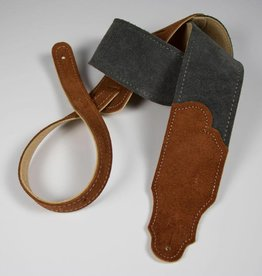 "Franklin Straps NEW Franklin 2.5"" Sedona Suede Guitar Strap - Gray/Rust"