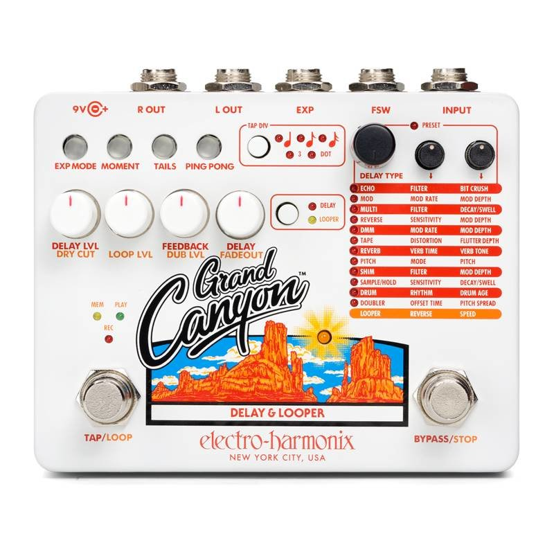 Electro Harmonix NEW Electro Harmonix Grand Canyon Delay and Looper