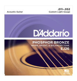 D'Addario NEW D'Addario EJ26 Phosphor Bronze Acoustic Strings - Custom Light - .011-.052