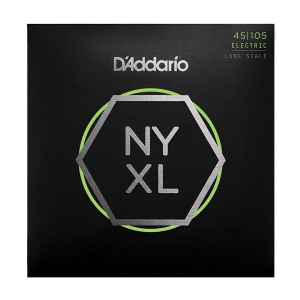 D'Addario NEW D'Addario NYXL Bass Guitar Strings - Light Top/Medium Bottom - .045-.105