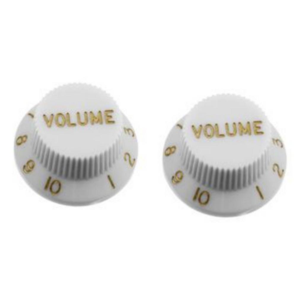 NEW AllParts Strat Volume Knobs - White