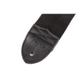 "Fender NEW Fender 2"" Black Poly Strap w/ Grey Fender Logo"