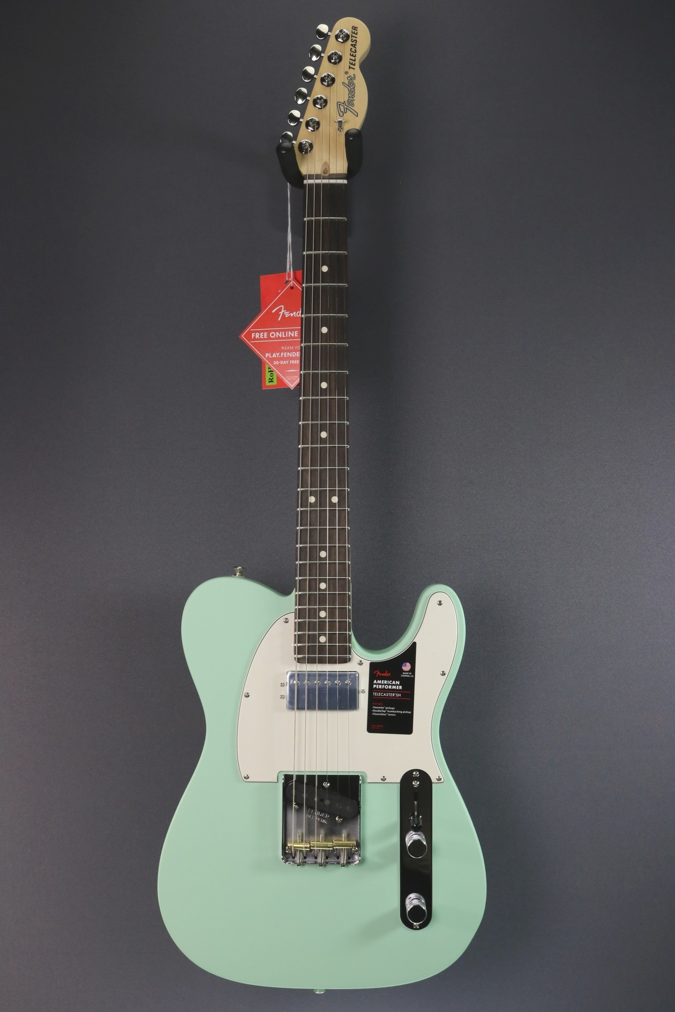Fender DEMO Fender American Performer Telecaster Humbucker - Satin Surf Green (205)