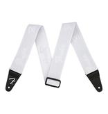 """Fender NEW Fender WeighLess 2"""" Running Logo Strap - White/White"""