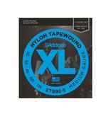 D'Addario NEW D'Addario ETB92-5 Black Tapewound Bass Strings - Medium - .050-.135