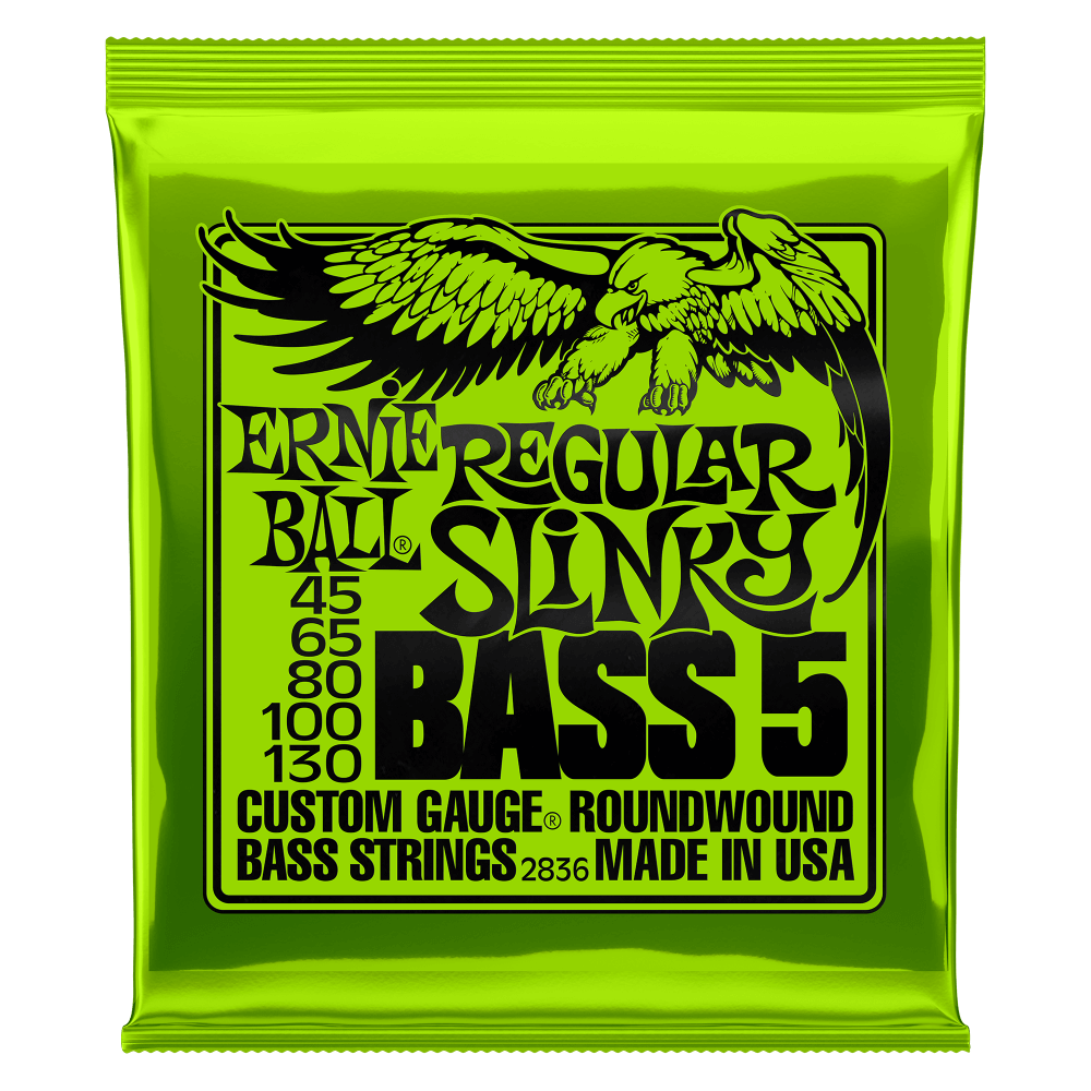 Ernie Ball NEW Ernie Ball Regular Slinky 5-String Bass - .045-.130