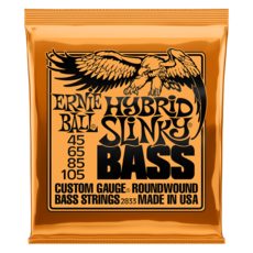Ernie Ball NEW Ernie Ball Hybrid Slinky Bass - .045-.105