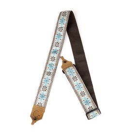Gretsch NEW Gretsch G Brand Banjo Strap - Blue/Brown