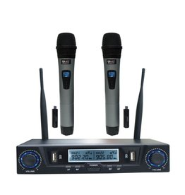 SHS NEW SHS Audio SWUH-500 Rechargeable UHF USB Dual Wireless System