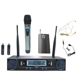SHS NEW SHS Audio SWUH-501 Rechargeable UHF USB Dual Wireless System