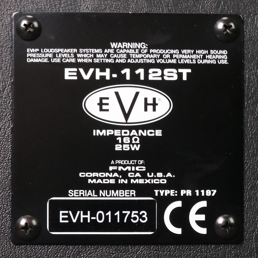 EVH USED EVH EVH-112ST 5150III 1x12 Straight Cabinet (753)