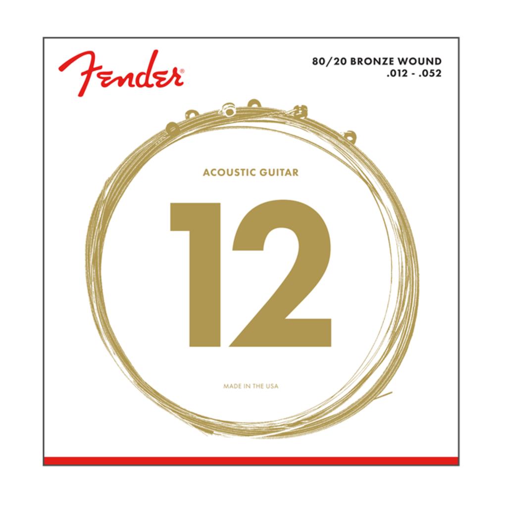 Fender NEW Fender 80/20 Bronze Acoustic Strings - .012-.052