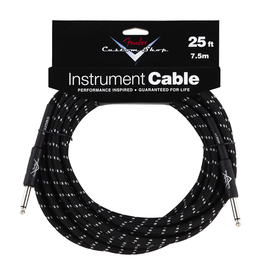 Fender NEW Fender Custom Shop Performance Series Cable - 25' - Black Tweed - Straight/Straight