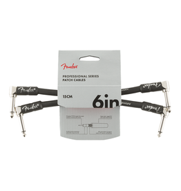 "Fender NEW Fender Professional Series Cable 2-Pack - Angle/Angle - 6"" - Black"