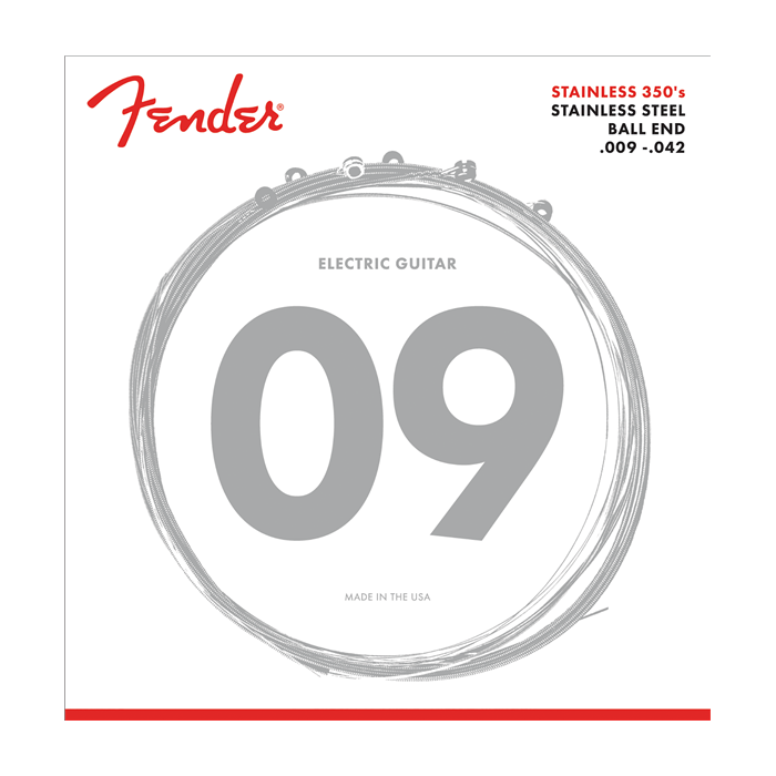 Fender NEW Fender Stainless Steel 350's Electric Strings - .009-.042
