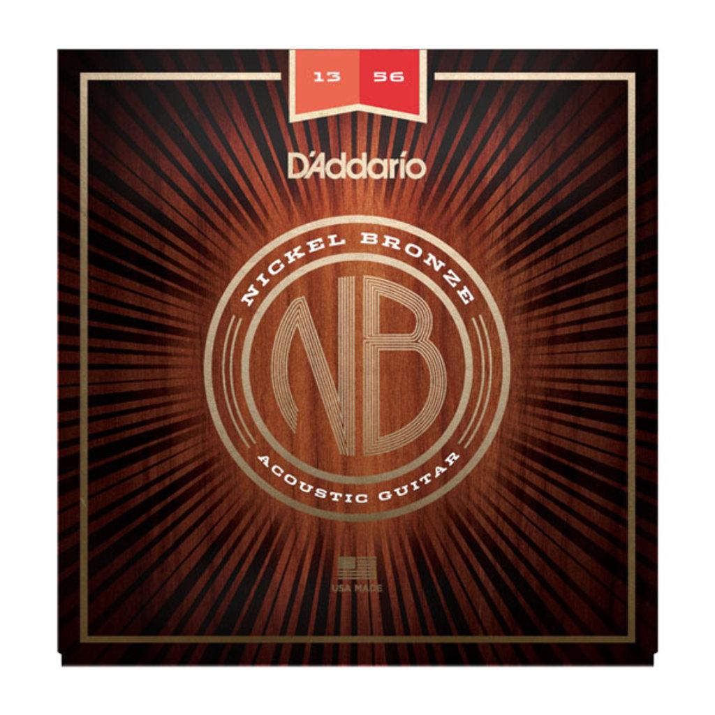 D'Addario NEW D'Addario Nickel Bronze Acoustic Strings - Medium - .013-.056