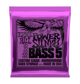 Ernie Ball NEW Ernie Ball Power Slinky 5 String Bass Strings - .050-.135