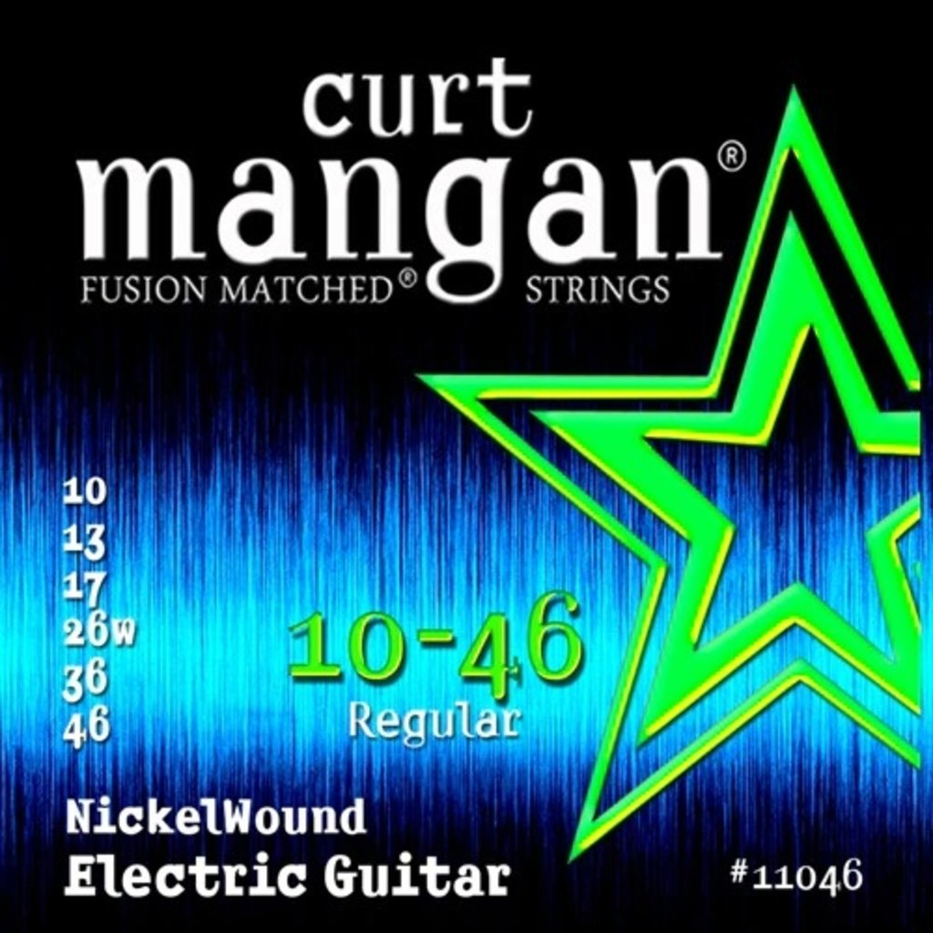 Curt Mangan NEW Curt Mangan Nickel Wound Electric Strings - .010-.046