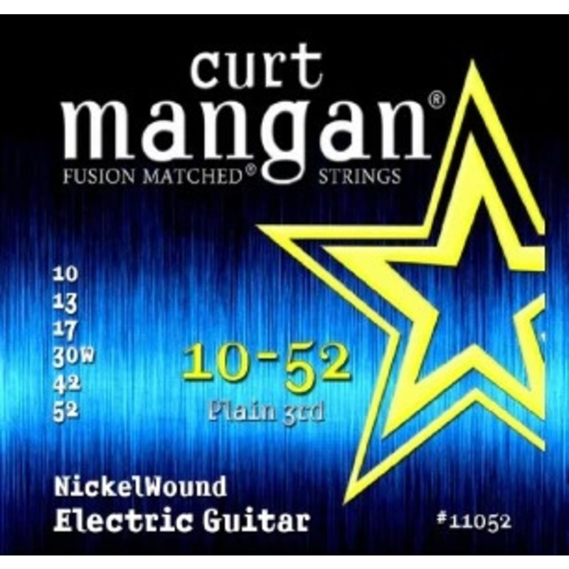 Curt Mangan NEW Curt Mangan Nickel Wound Electric Strings - .010-.052