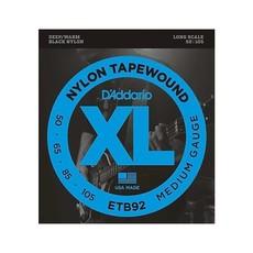 D'Addario NEW D'Addario ETB92 Tapewound Bass Strings - Medium - .105-.050