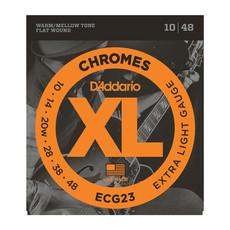 D'Addario NEW D'Addario ECG23 Chromes Flat Wound Electric Strings - Extra Light - .010-.048