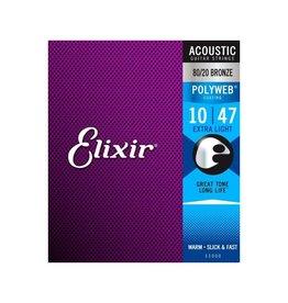 Elixir NEW Elixir Polyweb 80/20 Bronze Acoustic Strings - Extra Light - .010-.047