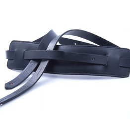 Right On Straps NEW Right On! Leathercraft Slim Guitar Strap - Black
