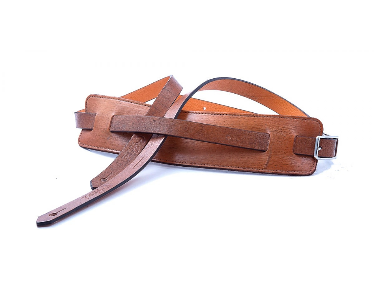 Right On Straps NEW Right On! Leathercraft Slim Guitar Strap - Woody
