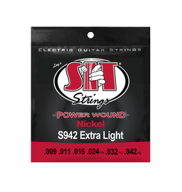 SIT NEW SIT Power Wound Electric Guitar Strings - Extra Light - .009-.042