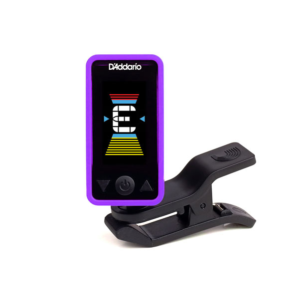 D'Addario NEW D'Addario Eclipse PW‑CT‑17 Eclipse Chromatic Clip‑On Tuner - Purple