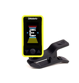 D'Addario NEW Planet Waves PW‑CT‑17 Eclipse Chromatic Clip‑On Tuner - Yellow