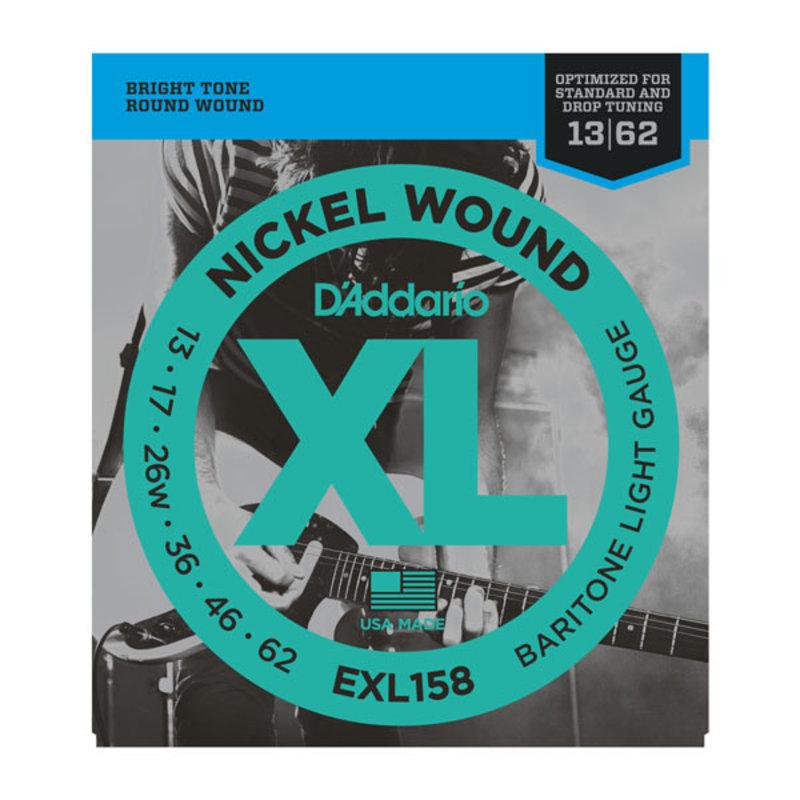 D'Addario NEW D'Addario EXL158 Electric Strings - Light Baritone - .013-.062