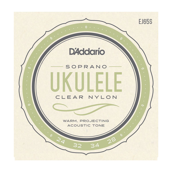 D'Addario NEW D'Addario Soprano Ukulele Strings - Clear Nylon - .024-.034,
