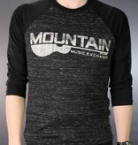 Mountain Music Exchange Baseball T-Shirt - Black Marble/Black - Large