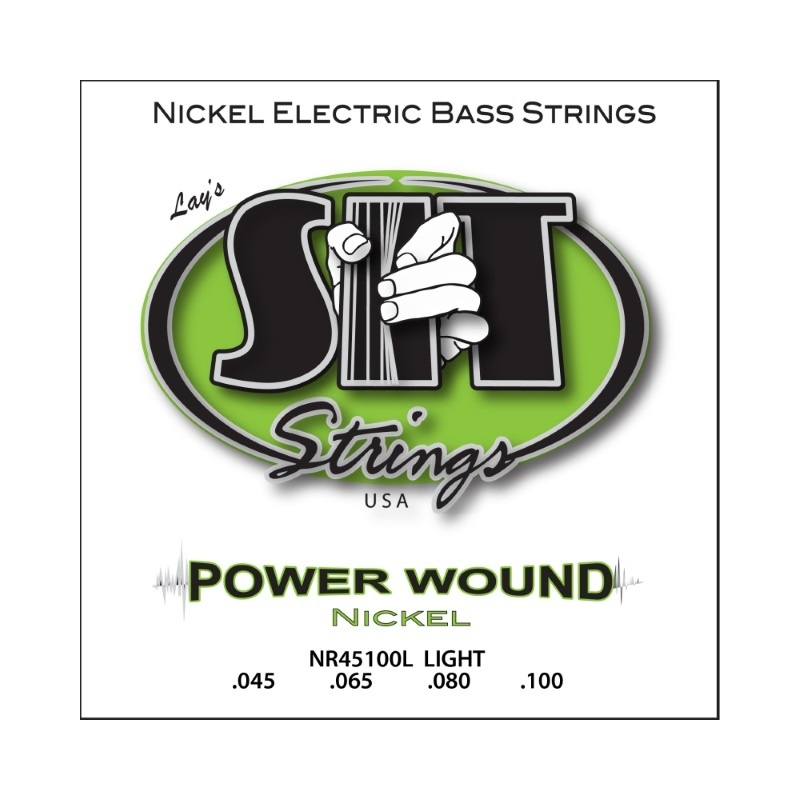 SIT NEW SIT Strings Power Wound Bass Strings - Light - .045-.100