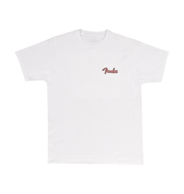 Fender NEW Fender Spaghetti Logo Globe T-Shirt - White - XL