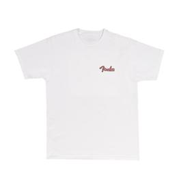 Fender NEW Fender Spaghetti Logo Globe T-Shirt - White - M