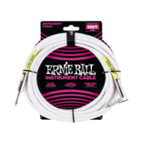 Ernie Ball NEW Ernie Ball Instrument Cable - Straight/Angle - White - 20'