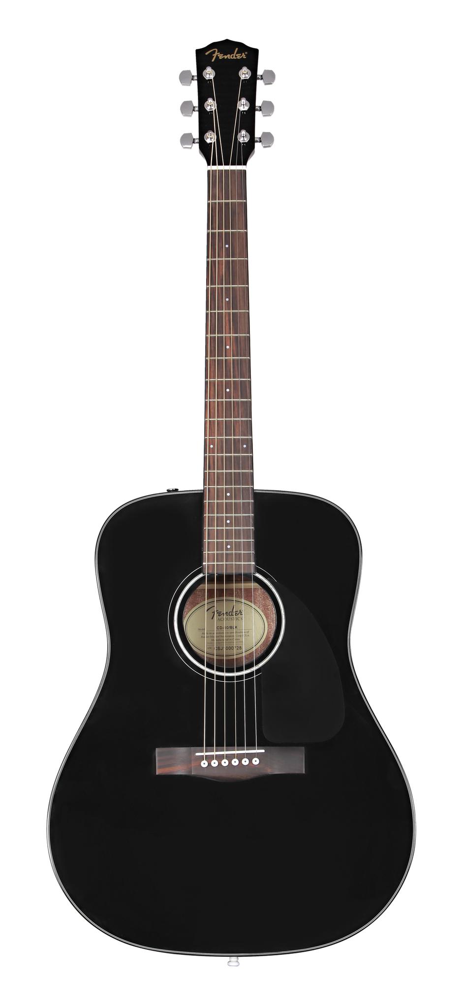 Fender NEW Fender CD-60 Dreadnought V3 w/Case - Black (667)