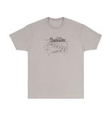 Fender NEW Fender Strat Blueprint T-Shirt - Silver - XL
