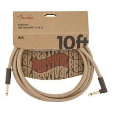 Fender NEW Fender Festival Instrument Cable - Pure Hemp - Natural - 10'