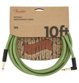 Fender NEW Fender Festival Instrument Cable - Pure Hemp - Green - 10'
