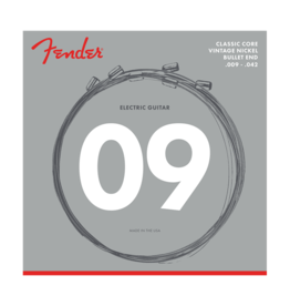 Fender NEW Fender Classic Core Electric Strings - Vintage Nickel - .009-.042 - Bullet End