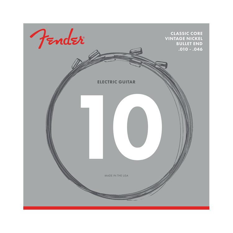 Fender NEW Fender Classic Core Electric Strings - Vintage Nickel - .010-.046 - Bullet End